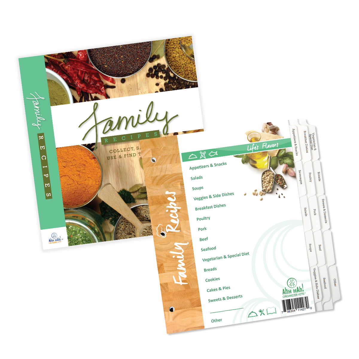 Family Recipe Organizer Kit: WIDE/LONG Index Tabs (tabs