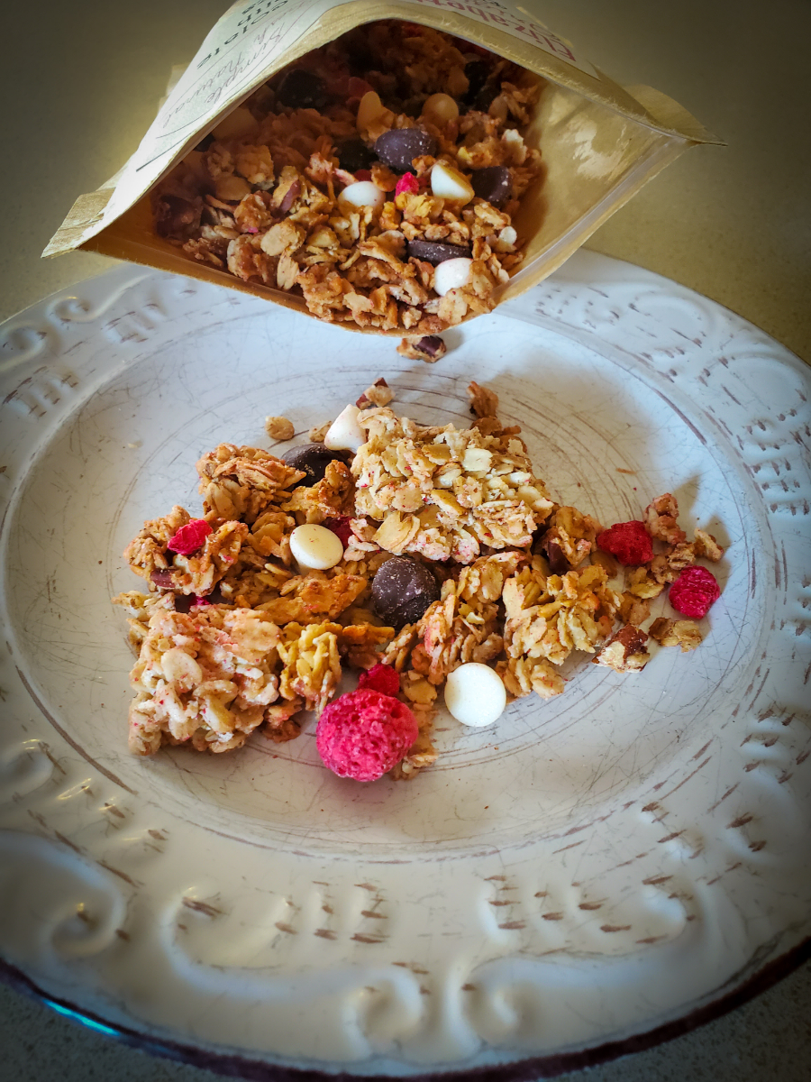 double-chocolate-granola-with-raspberries